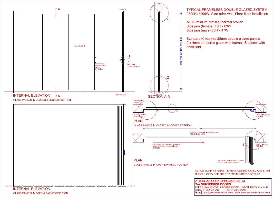 Technical Details Frameless Glass Doors Cb Doors Ck