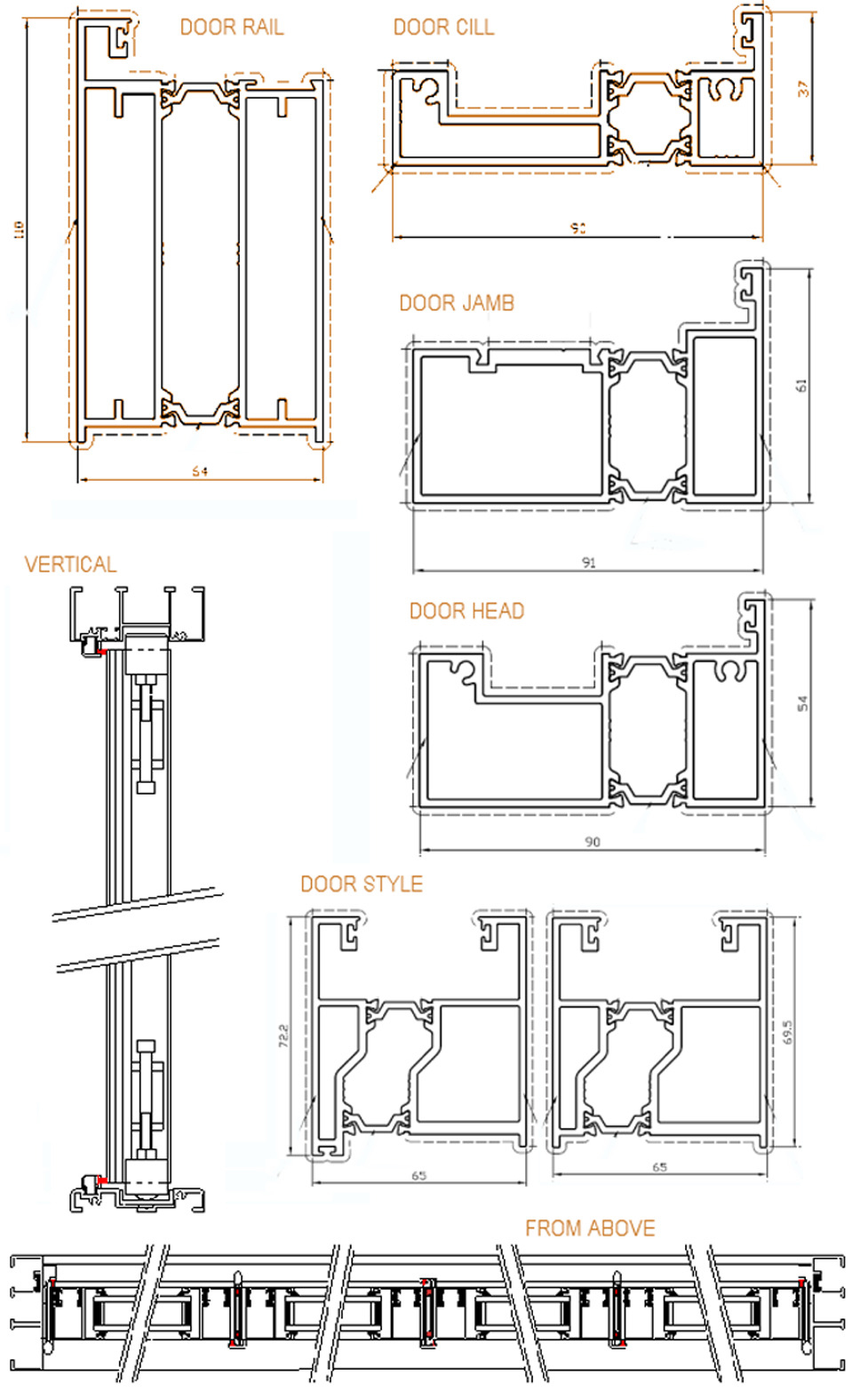 Technical Details And Drawings Bifold Cn Doors Ck